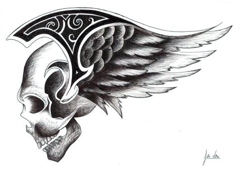 skull with wings by jnata on deviantart