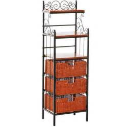 Slim Bakers Rack Celtic Bakers Rack With Baskets Walmart