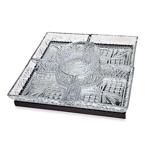bed bath and beyond dublin ca buy godinger dublin crystal silver lazy susan with 5