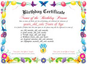 happy birthday certificate templates free birthday certificate