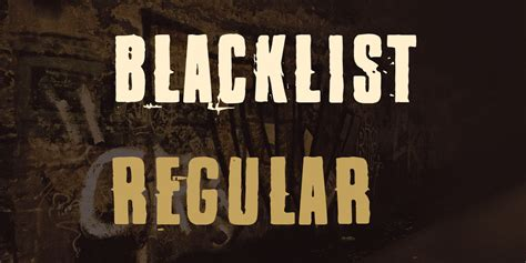 blacklist font befontscom