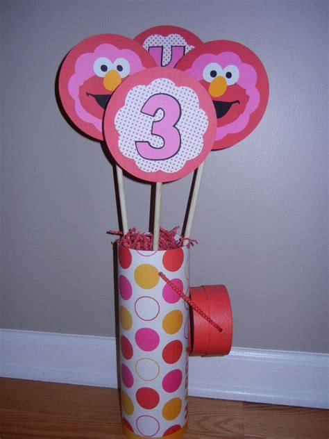 105 Best Images About Elmo Birthday Party On Pinterest Elmo Centerpieces Decorations