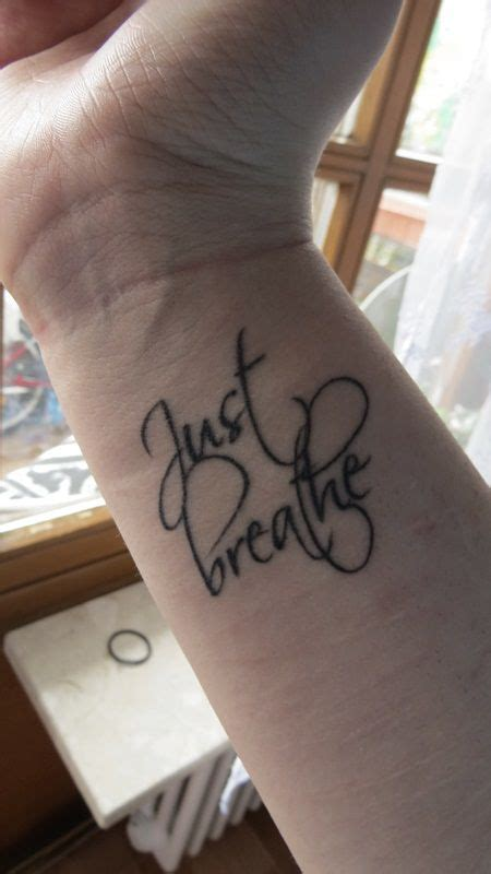 just breathe tattoo on finger 25 best ideas about just breathe tattoo on pinterest