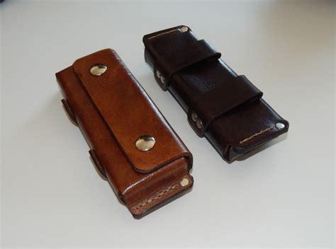 horizontal leather knife sheath made horizontal folding knife leather belt sheath