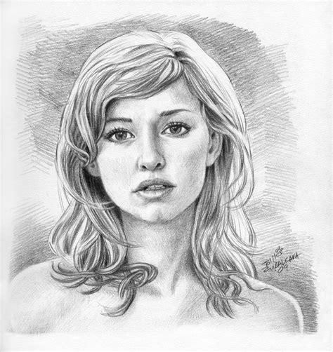 girl face drawing pencil arts february 2011