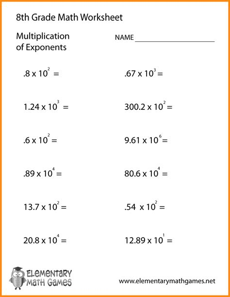 Math 8 Grade Worksheets by 8 8th Grade Algebra Problems Media Resumed