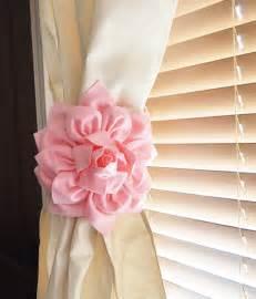 Nursery Curtain Tie Backs Nursery Decor Two Dahlia Flower Curtain Tie Backs Curtain