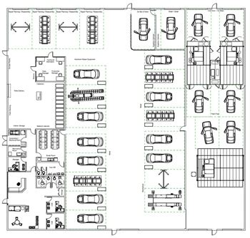 auto body shop floor plans modal title