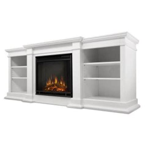 white electric fireplace media console real fresno 72 in media console electric fireplace in white g1200e w the home depot