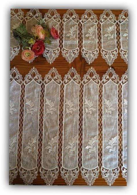linen and lace curtains imported lace and linen panels custom sizes macrame