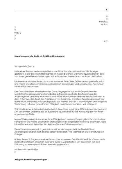 Anschreiben Praktikum Pr Agentur anschreiben unterlagen bewerbungsschreiben 2018