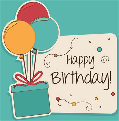 Happy Birthday Card Template by Happy Birthday Greeting Cards Free Vector 15 888