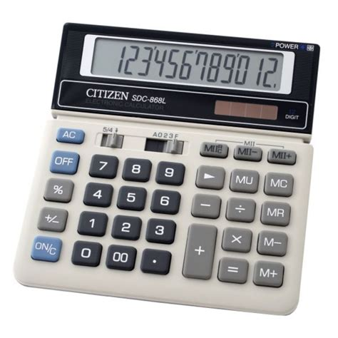 Baterai Kalkulator Citizen Sdc 868l jual kalkulator original citizen 12 digit calculator sdc