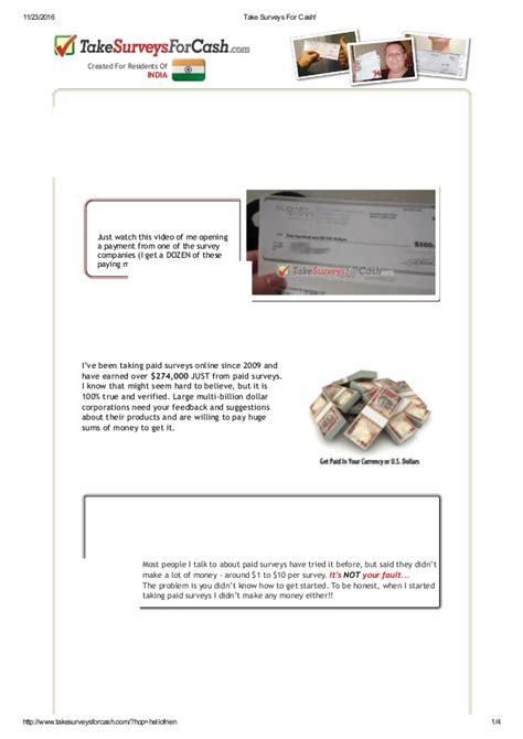 Take Surveys For Cash - take surveys for cash
