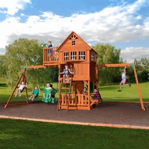 Best Backyard Swing Sets Best Wooden Swing Sets