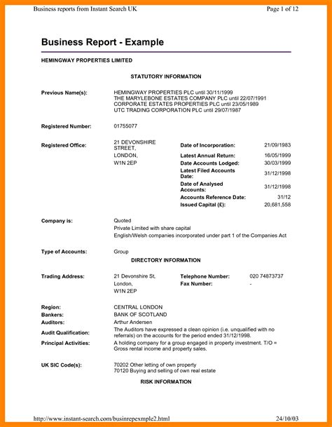 Business Letter Report Writing 9 Exles Of Business Report Nanny Resumed