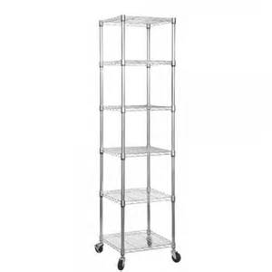 wire shelving with wheels mobile chrome shelving unit with 6 shelves and wheels