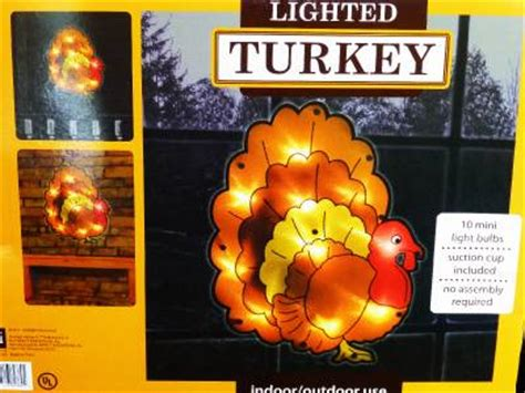 decoration lighted shimmering thanksgiving turkey window