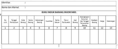 format buku inventaris barang sekolah inventarisasi barang habis pakai dan tidak habis pakai
