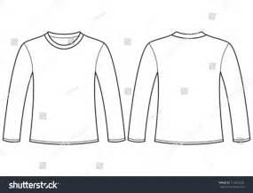 sleeve t shirt template vector free longsleeved tshirt template stock vector 112902559