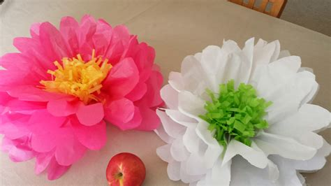 How To Make Paper Flowers Tissue Paper - how to make tissue paper flowers