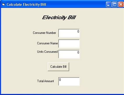 calculate electricity bill ignou vb 45 calculate electricity bill