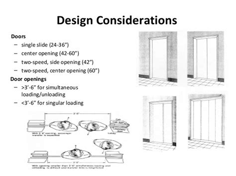 facility layout design considerations lifts
