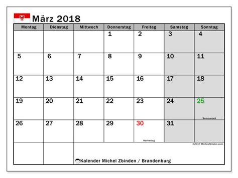 Kalender 2018 Mit Feiertagen Brandenburg Kalender M 228 Rz 2018 Brandenburg