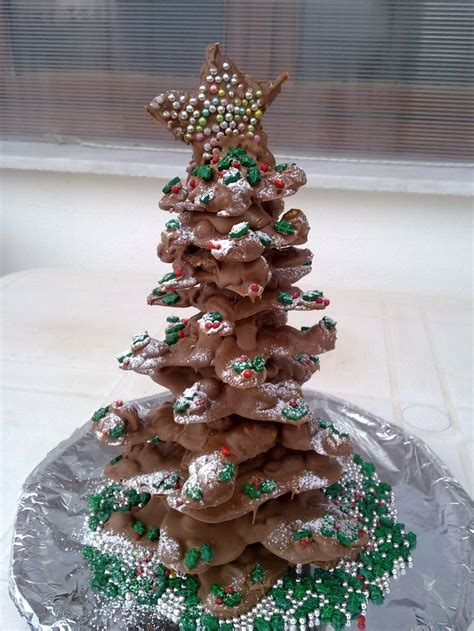 chocolate christmas tree desserts pinterest