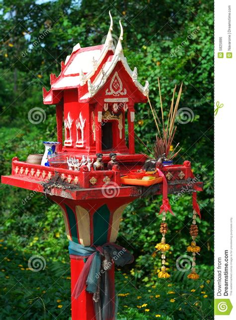 spirit house red spirit house royalty free stock image image 5825886