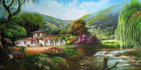 imagenes de paisajes oleo im 225 genes arte pinturas paisajes cestres jos 233 ra 250 l