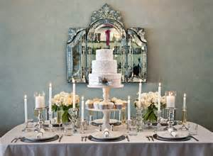 Table Top Decor by Chic Silver And White Winter Table Top Decor Ideas