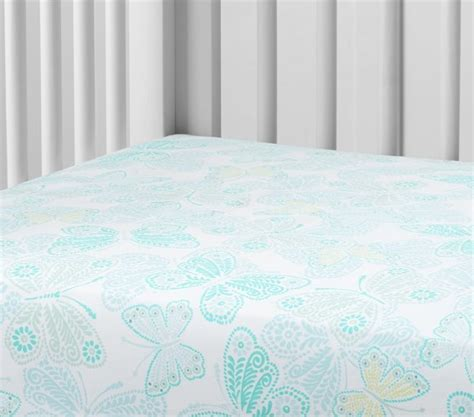 Butterfly Crib Sheet by Butterfly Crib Fitted Sheet Pottery Barn