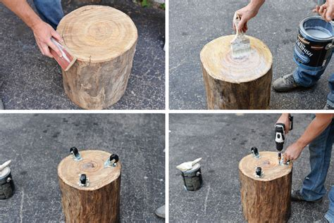 wood stump stool diy diy tree stump side table tree stump