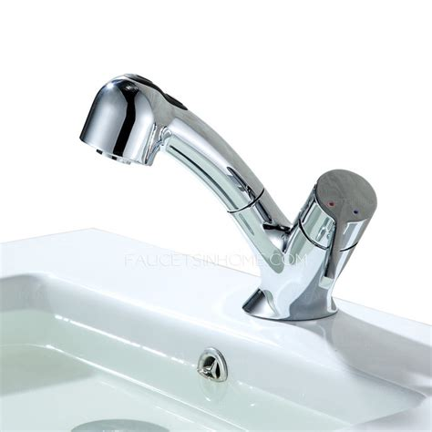 designer pull faucets bathroom one handle
