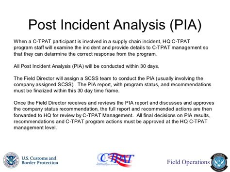 post incident review report template c tpat fciq presentation 20121018 updated