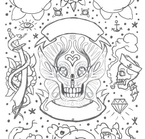 tattoo flash colouring book tattoo art coloring pages abstract adult grig3 org