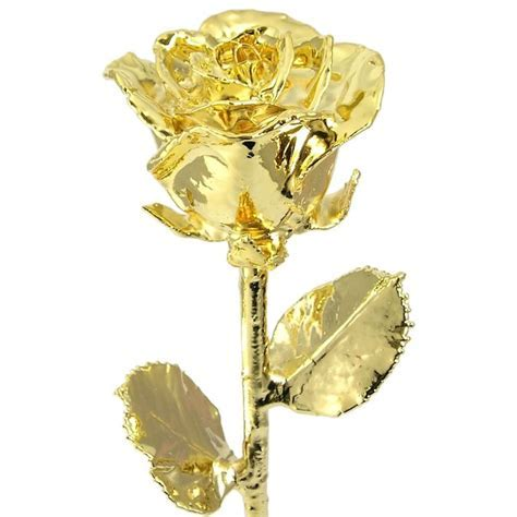 "18"" Real Rose Dipped in 24k Gold: Love Is A Rose"