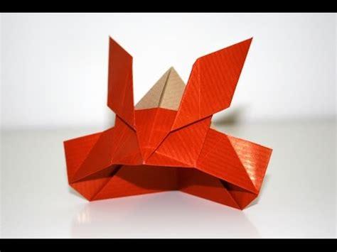 Origami Samurai Helmet - origami casque de samourai samurai helmet senbazuru