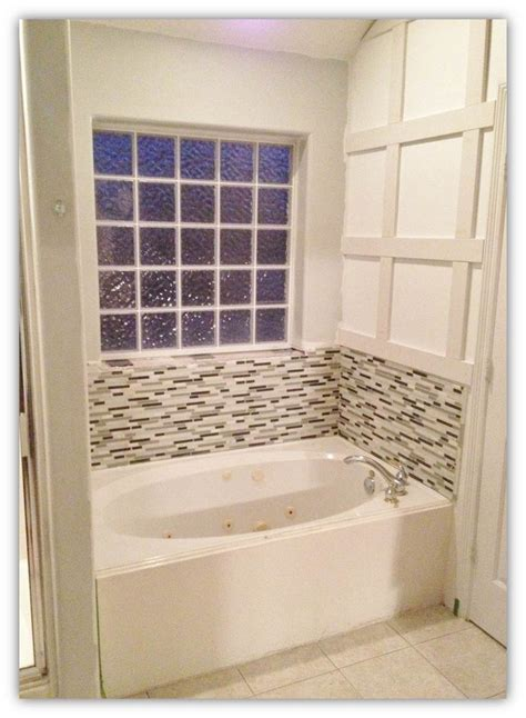 bathtub backsplash tile engineering life and style master bathroom update how