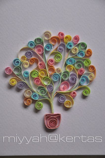 tutorial quilling kertas 126 best quilling trees images on pinterest paper
