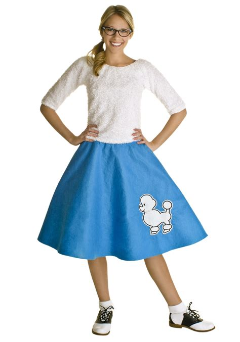 1950s style with this s bright blue 50s poodle skirt