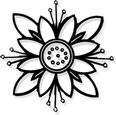 disegno fiore stilizzato fiore stilizzato disegno da colorare disegni da colorare
