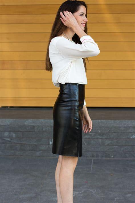 diy leather a line skirt craft diy