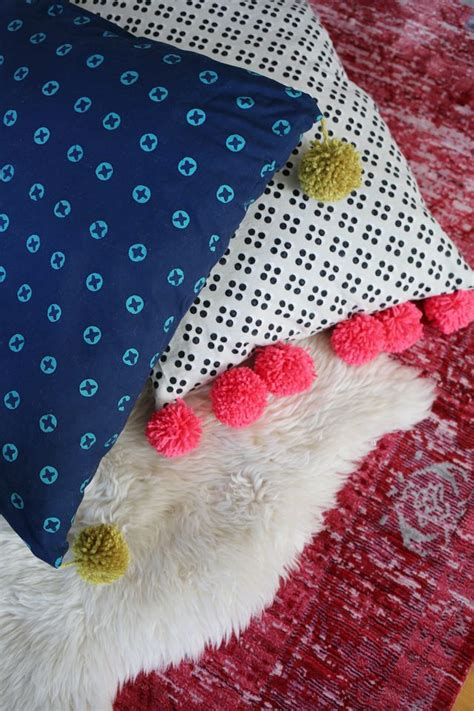 Make Your Own Floor Pillows by Pom Pom Oversized Floor Pillow Tutorial A Beautiful Mess