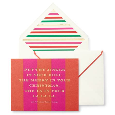 Kate Spade Gift Card - kate spade tinsel in a tangle holiday cards by kate spade