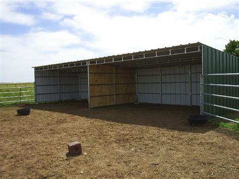 horse loafing shed plans   build diy