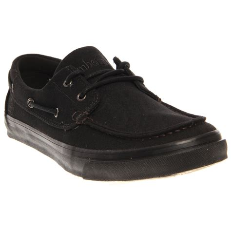 timberland black boat shoes