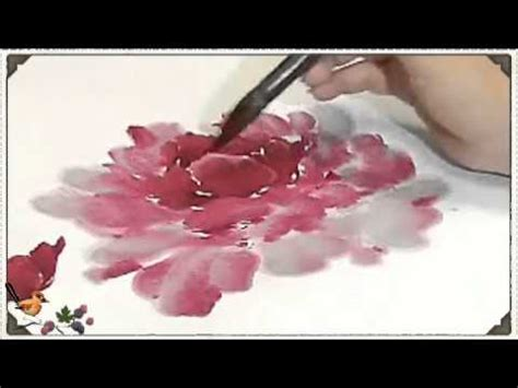 One Step Oshi 187 how to paint a peony yang oshi one thousand