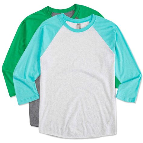 Kaos T Shirt Wanita Import White Summer Oversize 215369 custom next level tri blend baseball raglan design sleeve t shirts at customink